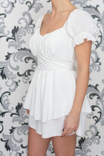Бял дамски гащеризон