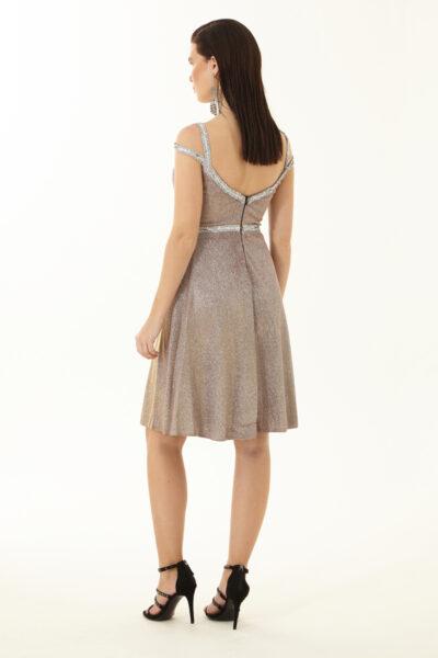 дамска разкроена рокля