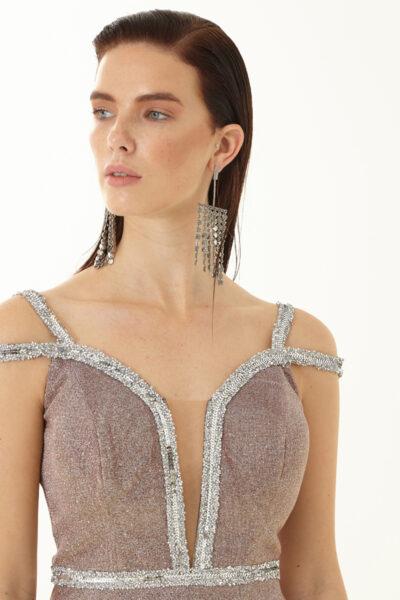 Дамска разкроена рокля - Fervente 1