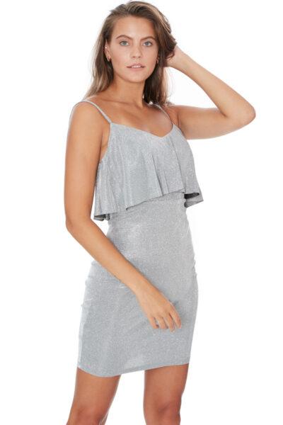 дамска сива рокля