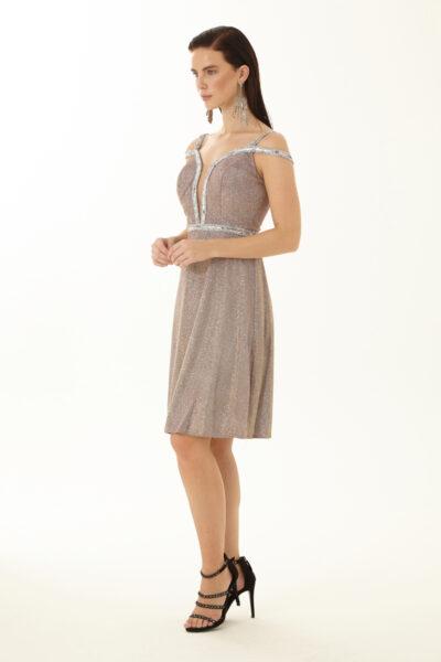 Дамска разкроена рокля - Fervente 2