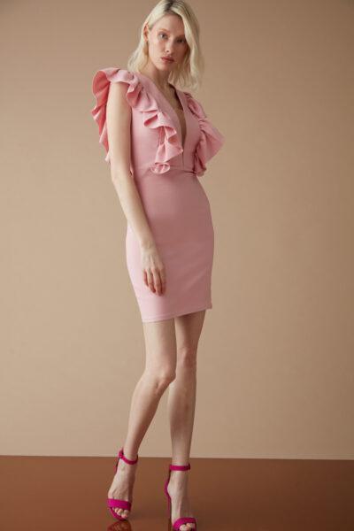 Розова рокля с къдри -Fervente 1