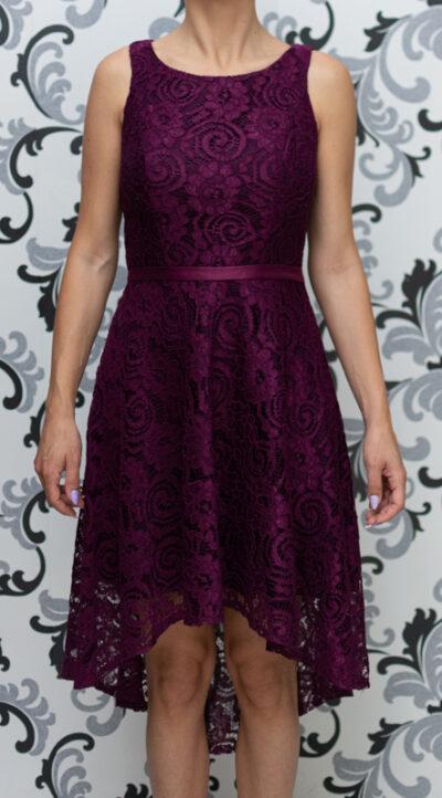 Дантелена рокля - цвят патладжан