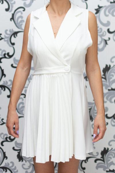 Лятна дамска рокля - бяла 2