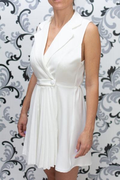 Лятна дамска рокля - бяла 1