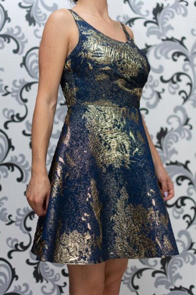 дамска рокля - тъмносиня